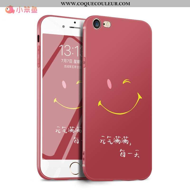 Housse iPhone 7 Délavé En Daim Ultra Silicone, Étui iPhone 7 Personnalité Tendance Rouge