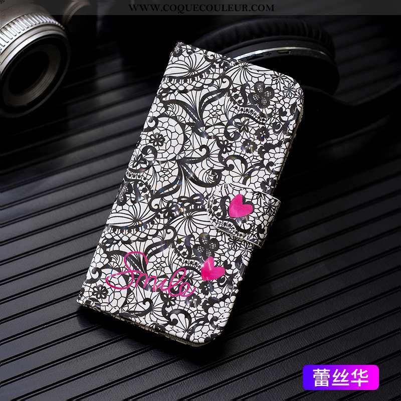 Coque iPhone 7 Mode Noir Housse, Housse iPhone 7 Cuir Étui