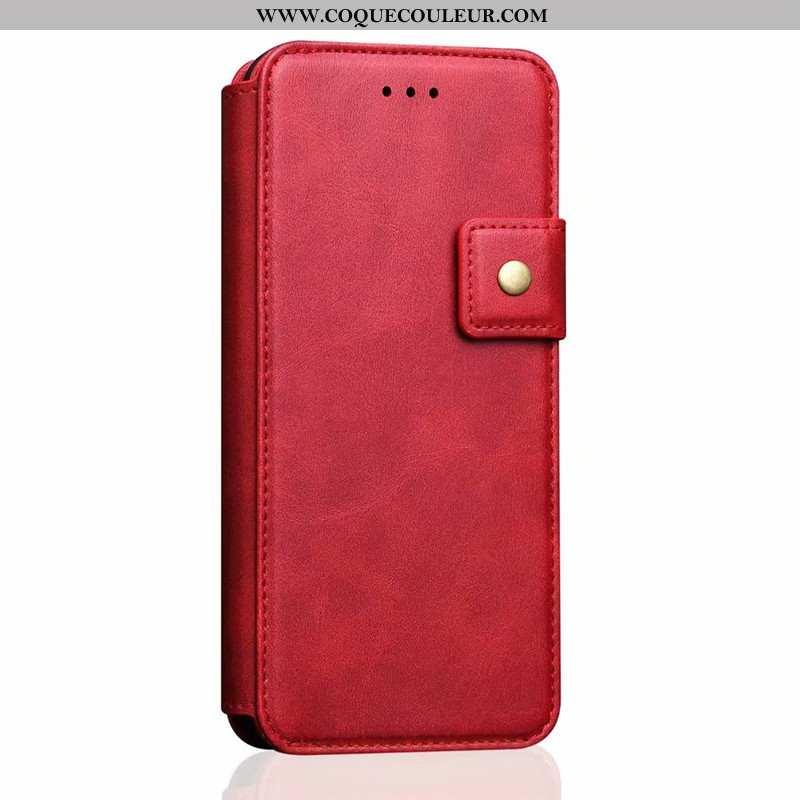 Housse iPhone 7 Cuir Nouveau Tout Compris, Étui iPhone 7 Protection Téléphone Portable Rouge