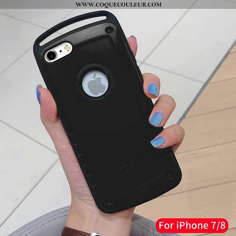 Housse iPhone 7 Ultra Incassable Coque, Étui iPhone 7 Tendance Légère Noir