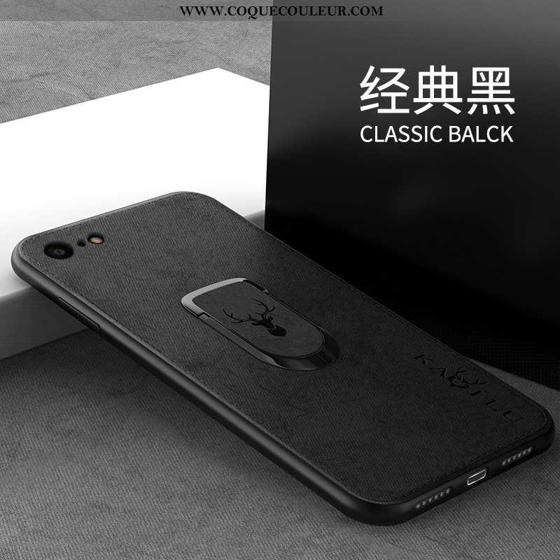 Coque iPhone 7 Protection Noir Téléphone Portable, Housse iPhone 7 Modèle Fleurie Magnétisme