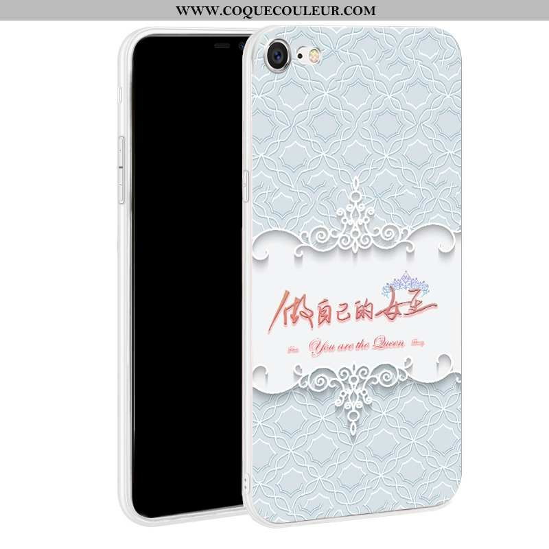 Housse iPhone 7 Silicone Téléphone Portable Coque, Étui iPhone 7 Protection Bleu