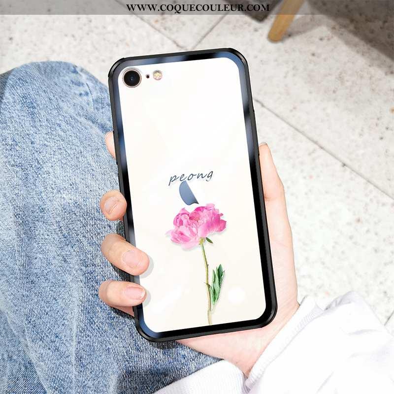 Étui iPhone 7 Tendance Transparent Frais, Coque iPhone 7 Fluide Doux Incassable Blanche