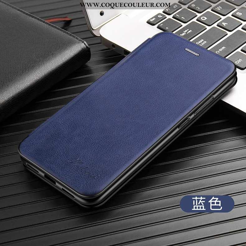 Étui iPhone 7 Cuir Coque Tout Compris, iPhone 7 Fluide Doux Protection Bleu