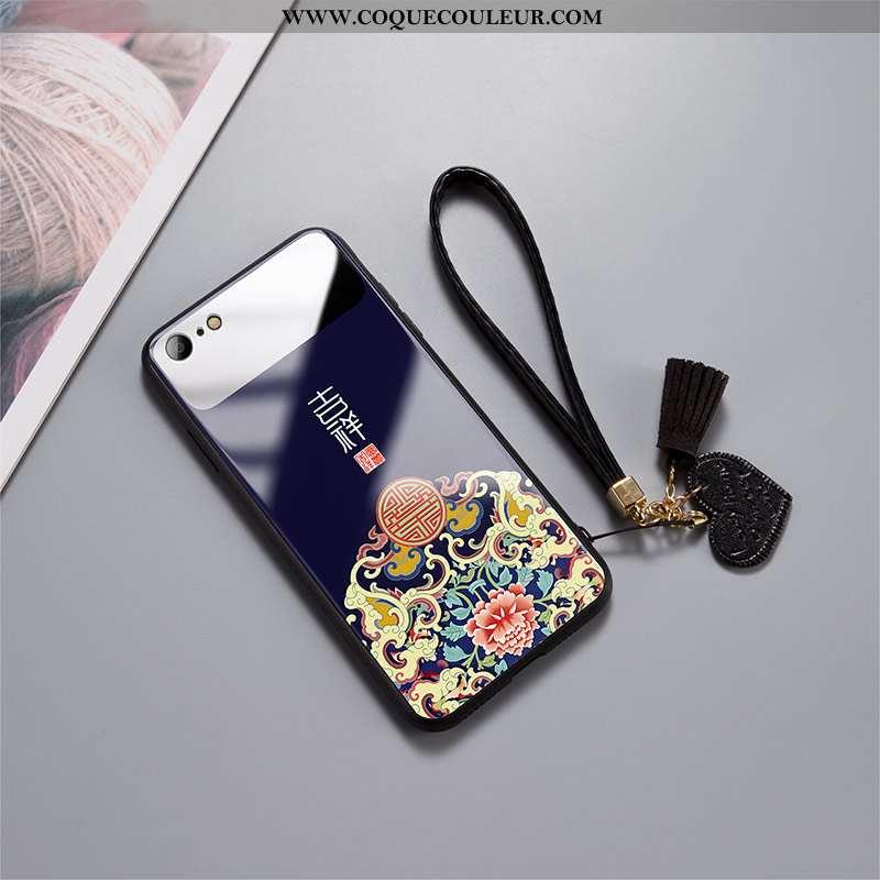 Étui iPhone 7 Ultra Légère Simple, Coque iPhone 7 Tendance Verre Noir