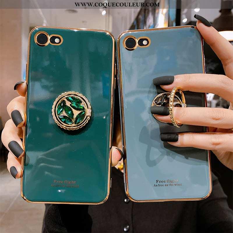 Coque iPhone 7 Silicone Gris Tout Compris, Housse iPhone 7 Tendance Téléphone Portable Bleu