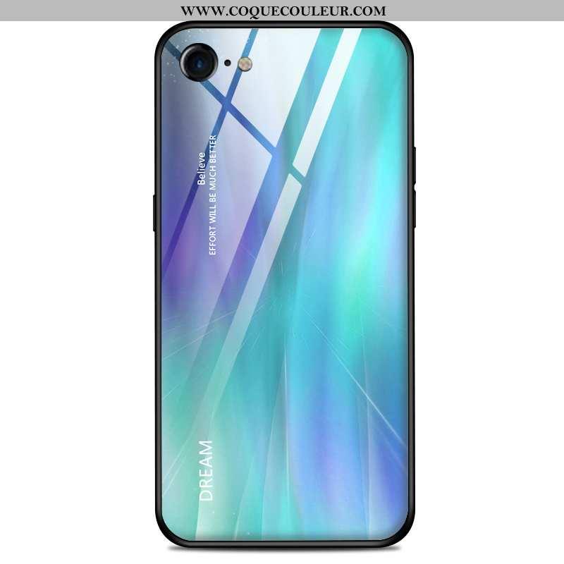 Étui iPhone 7 Verre Amoureux Légère, Coque iPhone 7 Ultra Protection Bleu