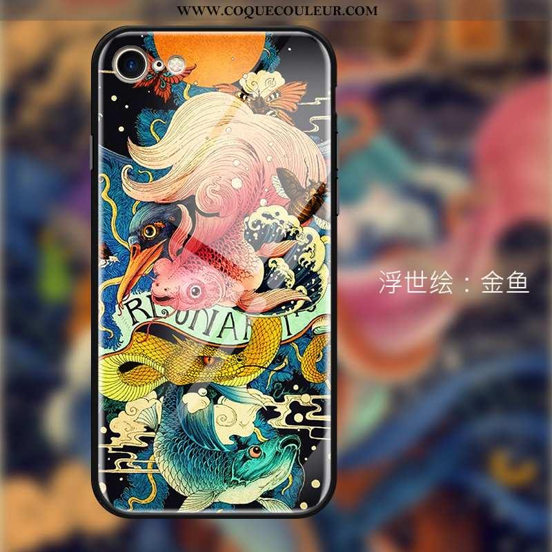 Coque iPhone 7 Personnalité Étui, Housse iPhone 7 Créatif Tendance Rouge