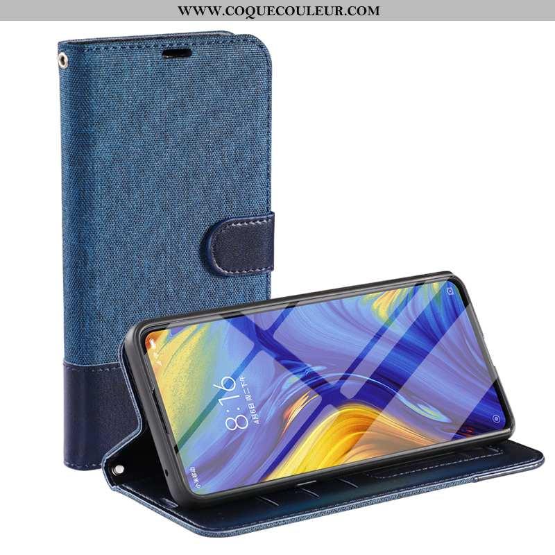 Housse iPhone 7 Cuir Coque Membrane, Étui iPhone 7 Téléphone Portable Tempérer Bleu Foncé