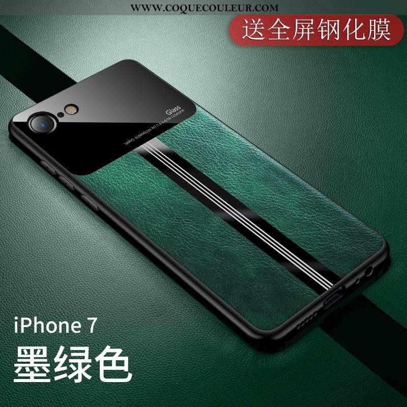 Étui iPhone 7 Fluide Doux Téléphone Portable, Coque iPhone 7 Silicone Simple Verte