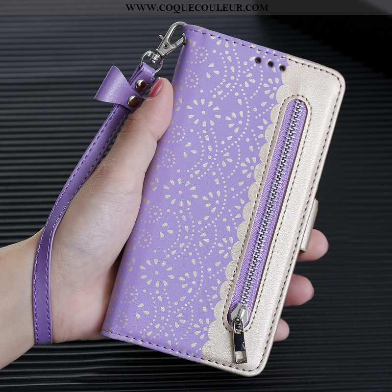 Étui iPhone 8 Plus Protection Personnalité Violet, Coque iPhone 8 Plus Ornements Suspendus Créatif V
