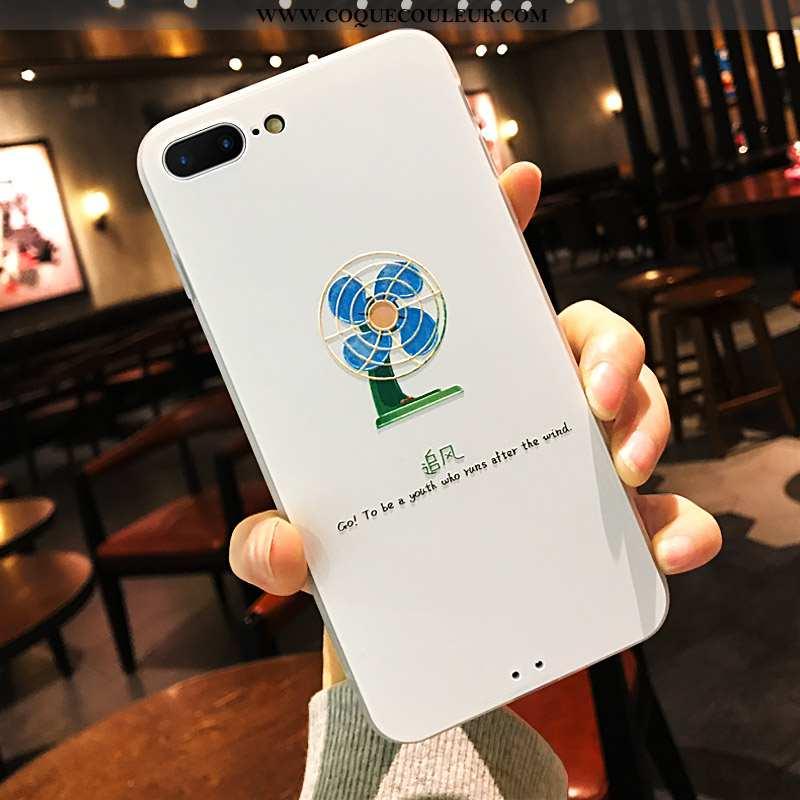 Coque iPhone 8 Plus Créatif Amoureux Protection, Housse iPhone 8 Plus Gaufrage Ultra Blanche