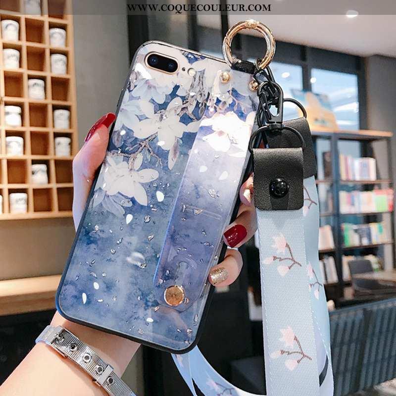 Housse iPhone 8 Plus Ornements Suspendus Bleu Légères, Étui iPhone 8 Plus Légère Coque
