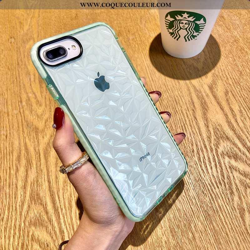 Coque iPhone 8 Plus Tendance Simple Coque, Housse iPhone 8 Plus Silicone Téléphone Portable Verte