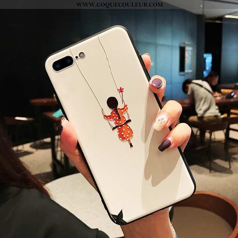 Étui iPhone 8 Plus Tendance Petit Nouveau, Coque iPhone 8 Plus Légère Incassable Blanche