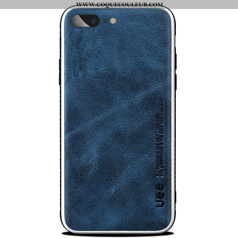 Coque iPhone 8 Plus Silicone Téléphone Portable Coque, Housse iPhone 8 Plus Protection Bleu Marin Bl