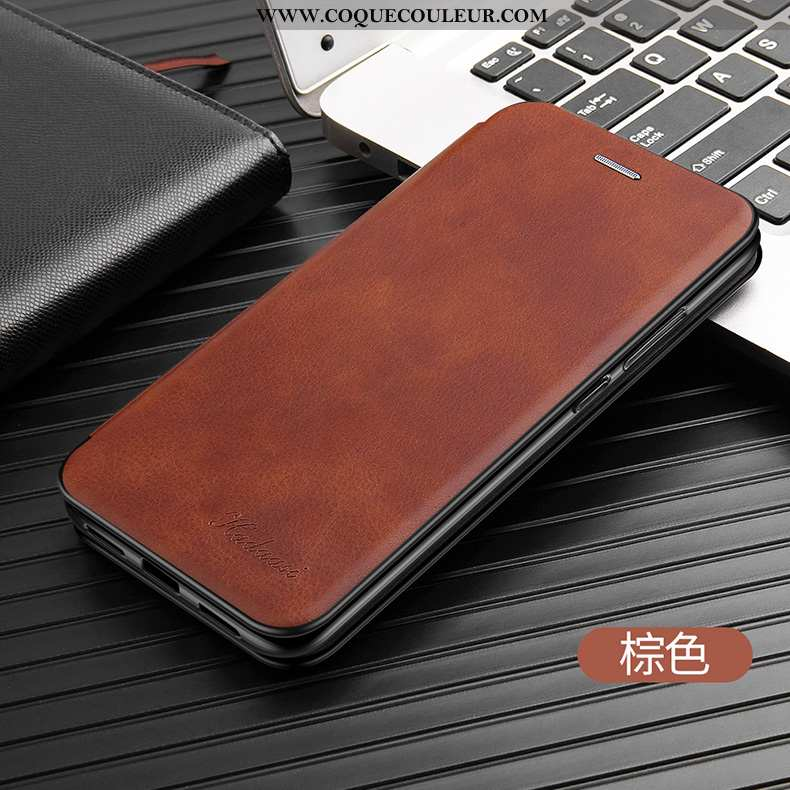 Étui iPhone 8 Plus Fluide Doux Business Nouveau, Coque iPhone 8 Plus Silicone Luxe Marron