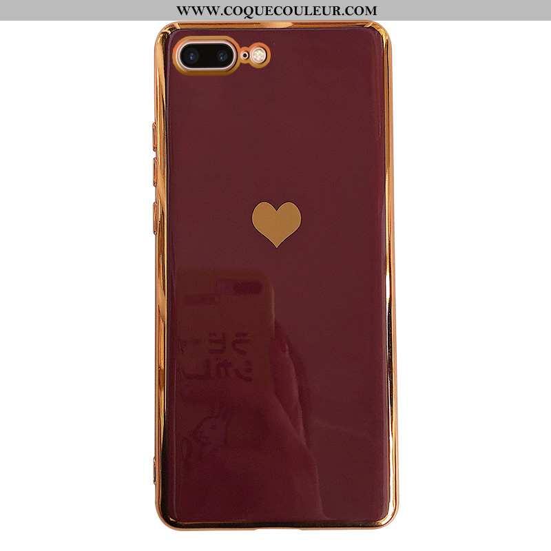 Étui iPhone 8 Plus Silicone Téléphone Portable, Coque iPhone 8 Plus Tendance Rouge