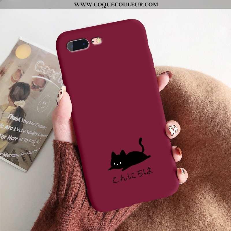 Étui iPhone 8 Plus Charmant Tout Compris Coque, Coque iPhone 8 Plus Ultra Rouge