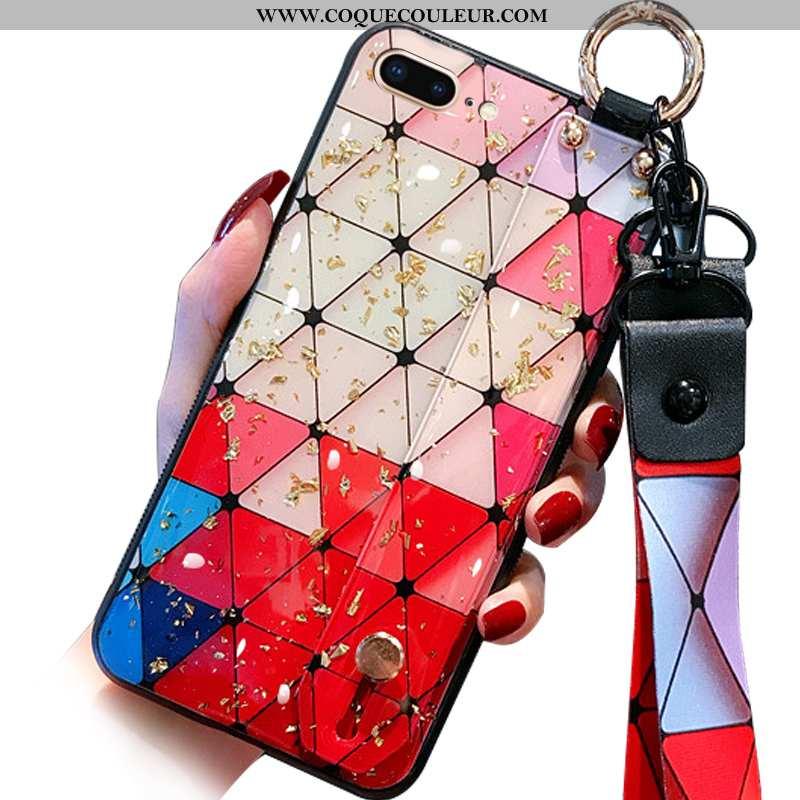 Étui iPhone 8 Plus Charmant Ornements Suspendus Silicone, Coque iPhone 8 Plus Tendance Miroir Camouf