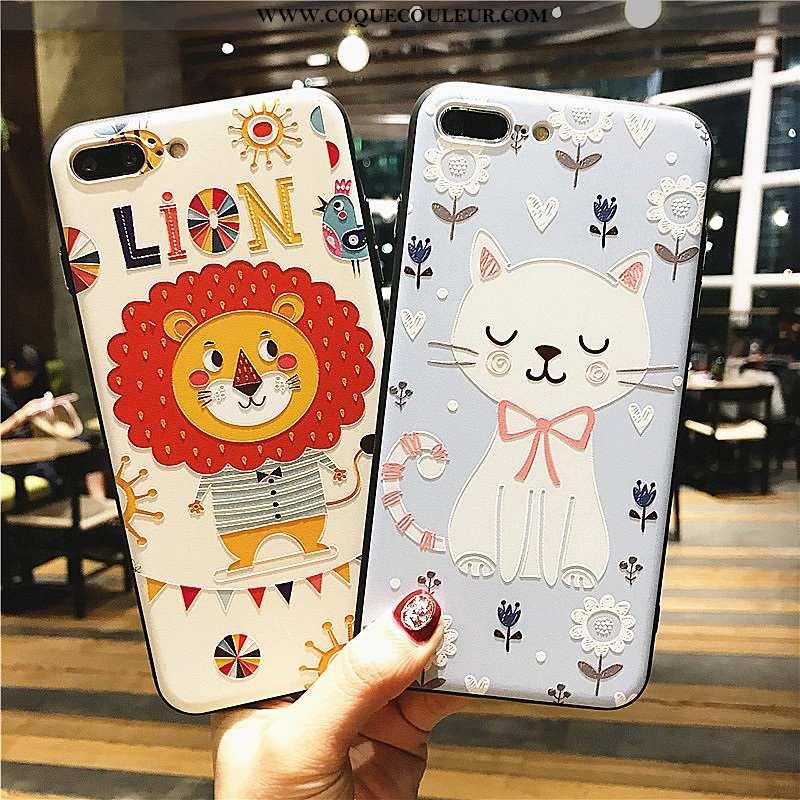 Housse iPhone 8 Plus Cou Suspendu Nouveau Amoureux, Étui iPhone 8 Plus Ornements Suspendus Dessin An
