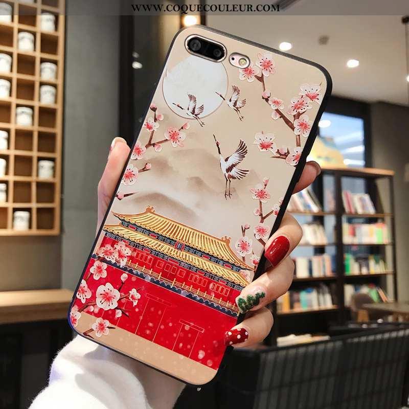 Housse iPhone 8 Plus Fluide Doux Coque Nouveau, Étui iPhone 8 Plus Silicone Ornements Suspendus Roug