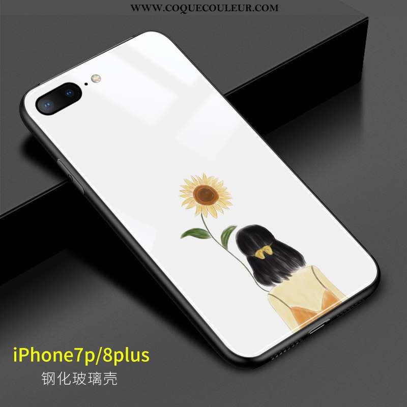 Étui iPhone 8 Plus Créatif Blanc Coque, Coque iPhone 8 Plus Charmant Art Blanche