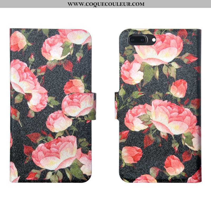 Housse iPhone 8 Plus Fleurs Protection Personnalité, Étui iPhone 8 Plus Tendance Rose
