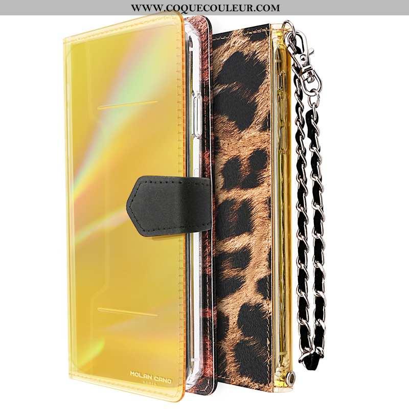 Housse iPhone 8 Plus Luxe Tout Compris Protection, Étui iPhone 8 Plus Chaîne Fluide Doux Jaune
