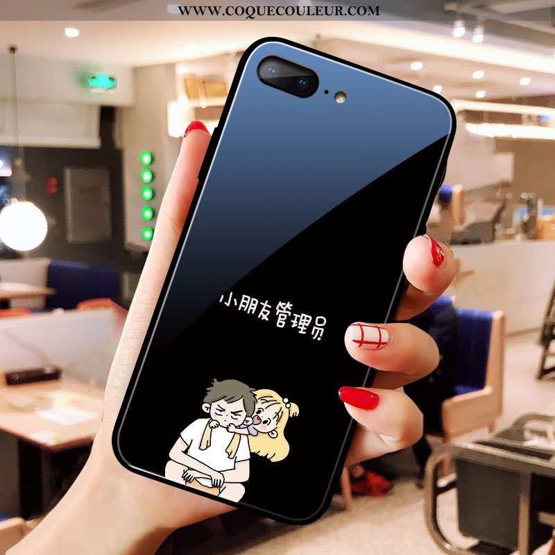 Étui iPhone 8 Plus Créatif Noir Téléphone Portable, Coque iPhone 8 Plus Dessin Animé Personnalité