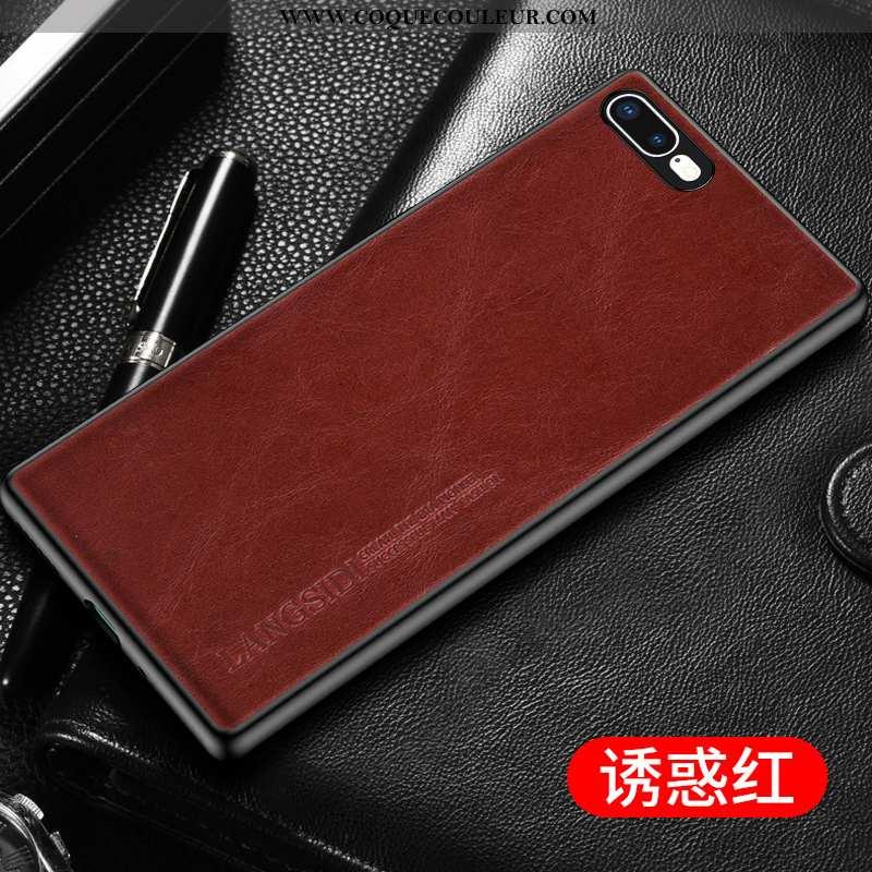 Coque iPhone 8 Plus Créatif Rouge, Housse iPhone 8 Plus Cuir Véritable Personnalisé Rouge