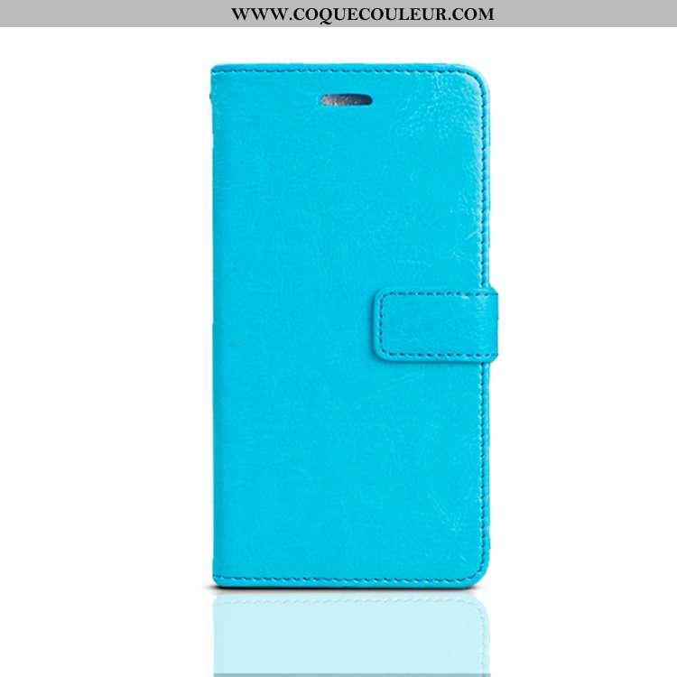 Étui iPhone 8 Silicone Tout Compris Téléphone Portable, Coque iPhone 8 Cuir Bleu
