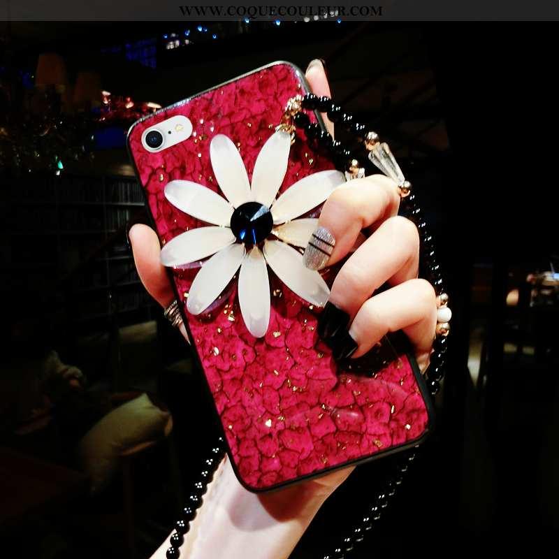 Housse iPhone 8 Silicone Luxe Fluide Doux, Étui iPhone 8 Protection Vert Rouge