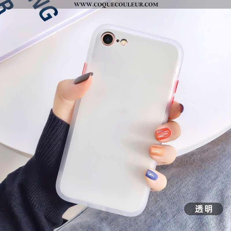 Housse iPhone 8 Transparent Mode Créatif, Étui iPhone 8 Délavé En Daim Coque Blanche