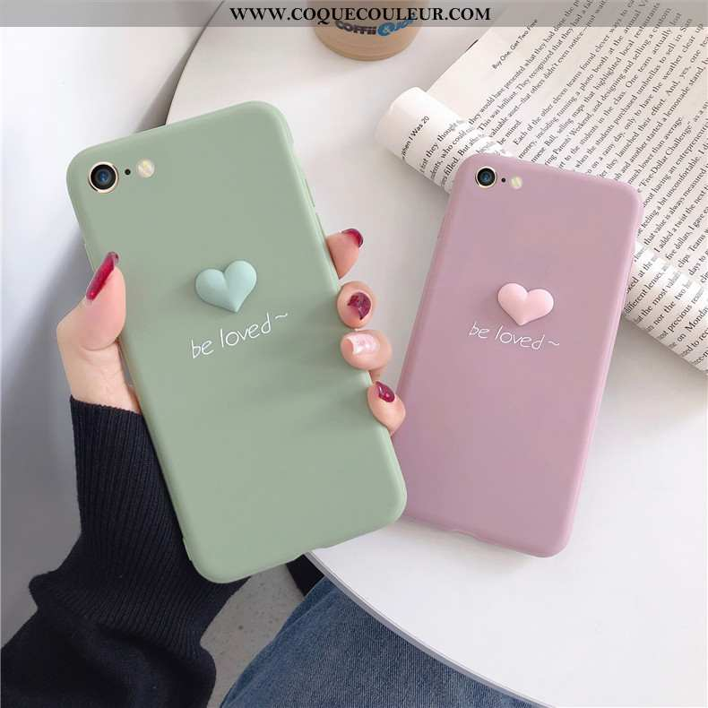 Coque iPhone 8 Fluide Doux Amour Protection, Housse iPhone 8 Mode Dimensionnel Rose
