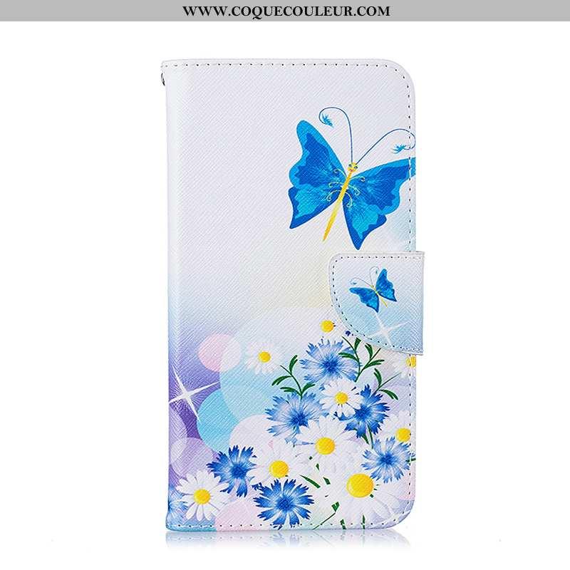 Housse iPhone 8 Protection Étui Coque, iPhone 8 Cuir Blanc Blanche