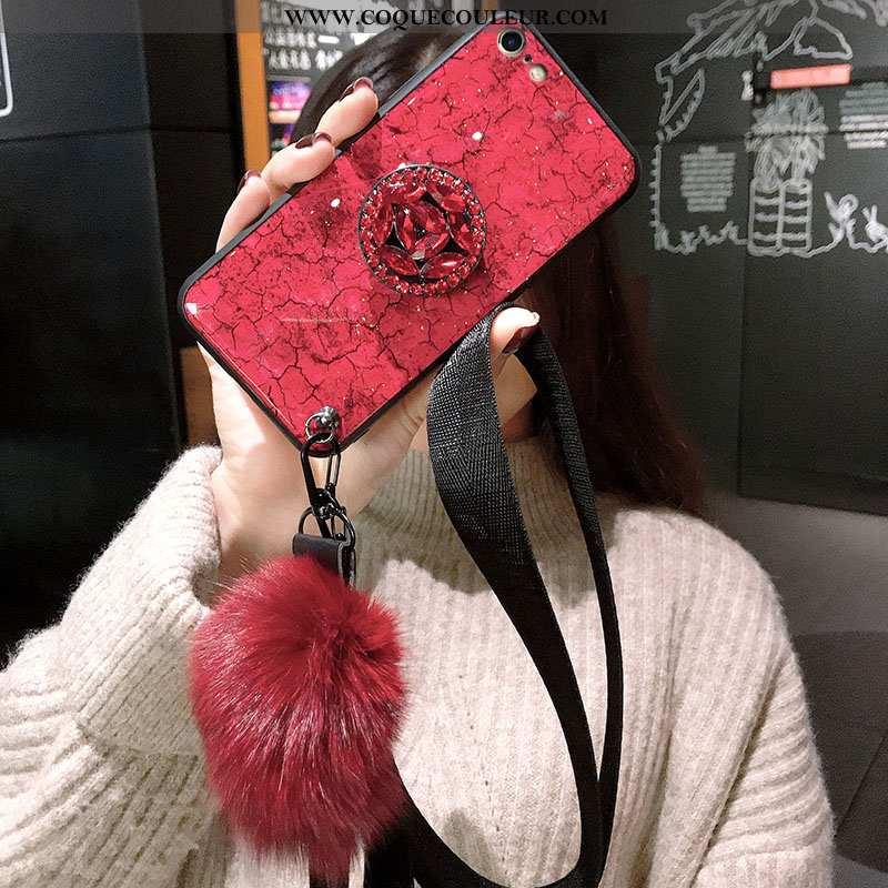 Coque iPhone 8 Silicone Étui Rouge, Housse iPhone 8 Protection Incassable Rouge