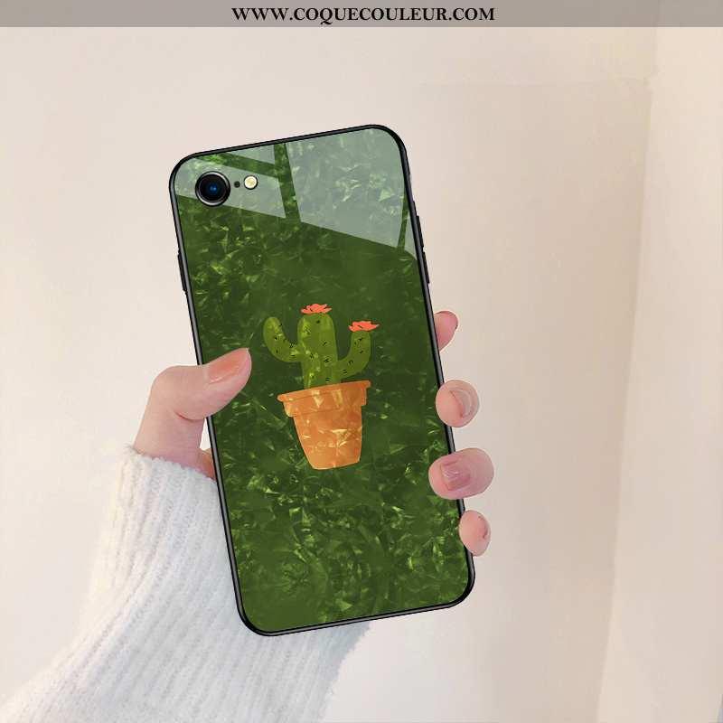 Housse iPhone 8 Silicone Vert Créatif, Étui iPhone 8 Verre Légère Verte