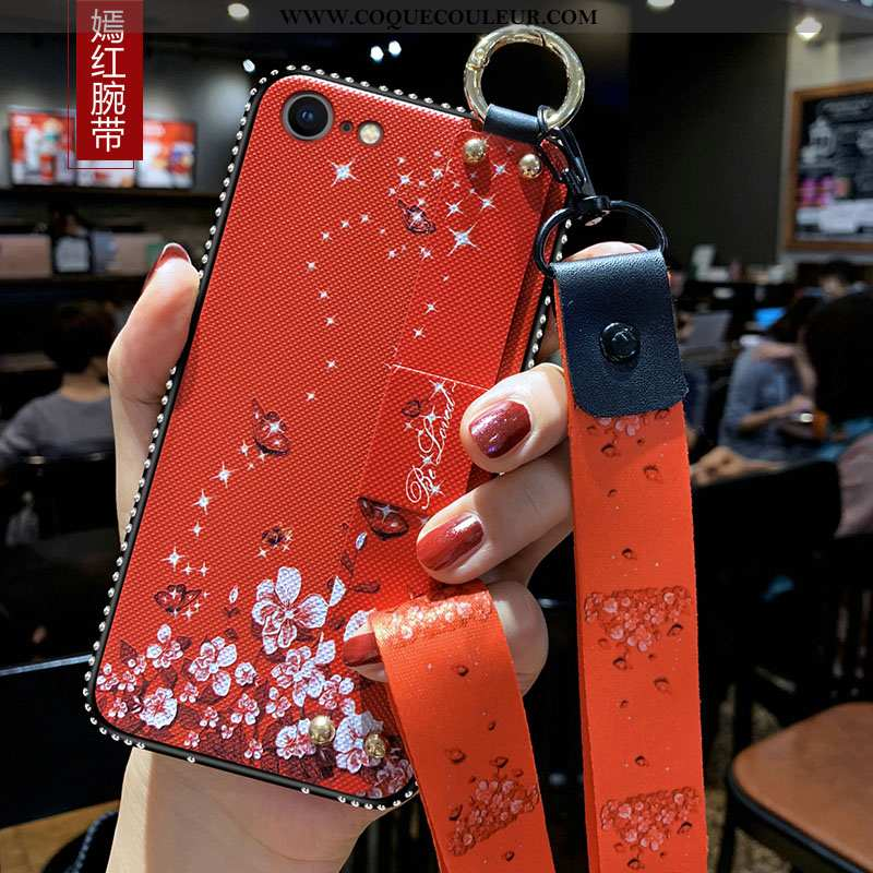 Housse iPhone 8 Ornements Suspendus Étui Incassable, iPhone 8 Tendance Tout Compris Rouge