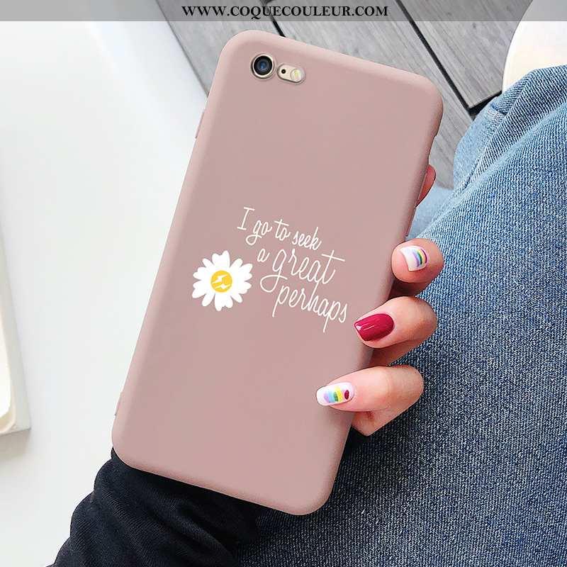 Étui iPhone 8 Fluide Doux Téléphone Portable Délavé En Daim, Coque iPhone 8 Silicone Rose
