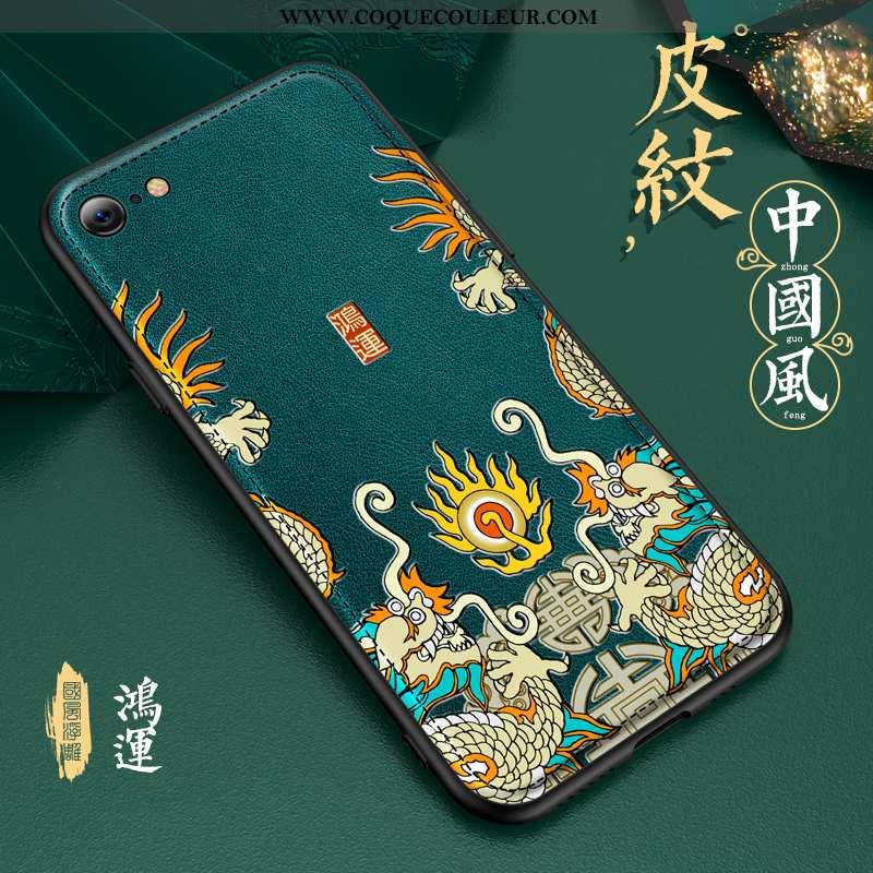 Coque iPhone 8 Modèle Fleurie Tout Compris Créatif, Housse iPhone 8 Silicone Gaufrage Verte