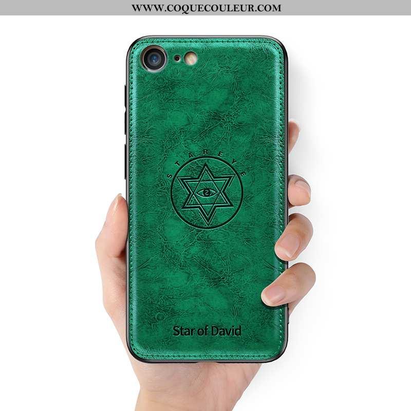 Housse iPhone 8 Légère Vert Ultra, Étui iPhone 8 Cuir Tendance Verte