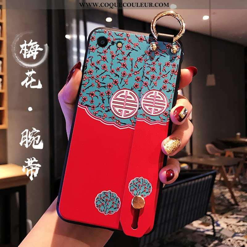 Housse iPhone 8 Personnalité Téléphone Portable Silicone, Étui iPhone 8 Créatif Fluide Doux Bleu
