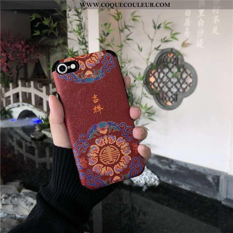 Étui iPhone 8 Protection Modèle Fleurie Soie Mulberry, Coque iPhone 8 Ornements Suspendus Style Chin