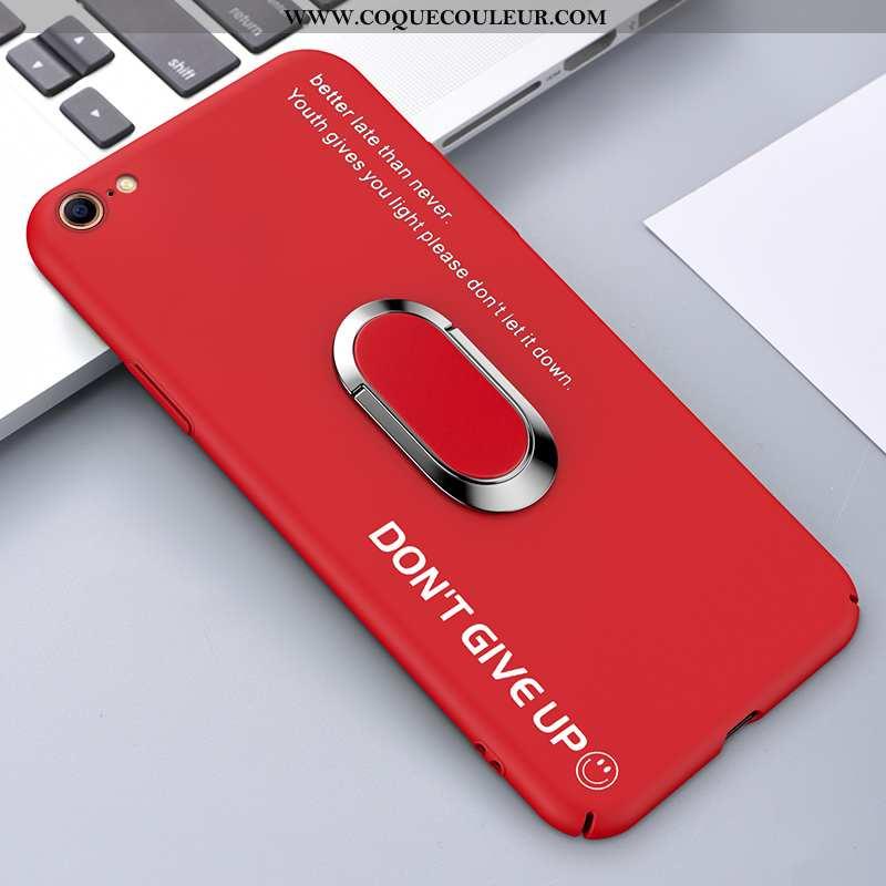 Étui iPhone 8 Personnalité Support Anneau, Coque iPhone 8 Tendance Difficile Rouge