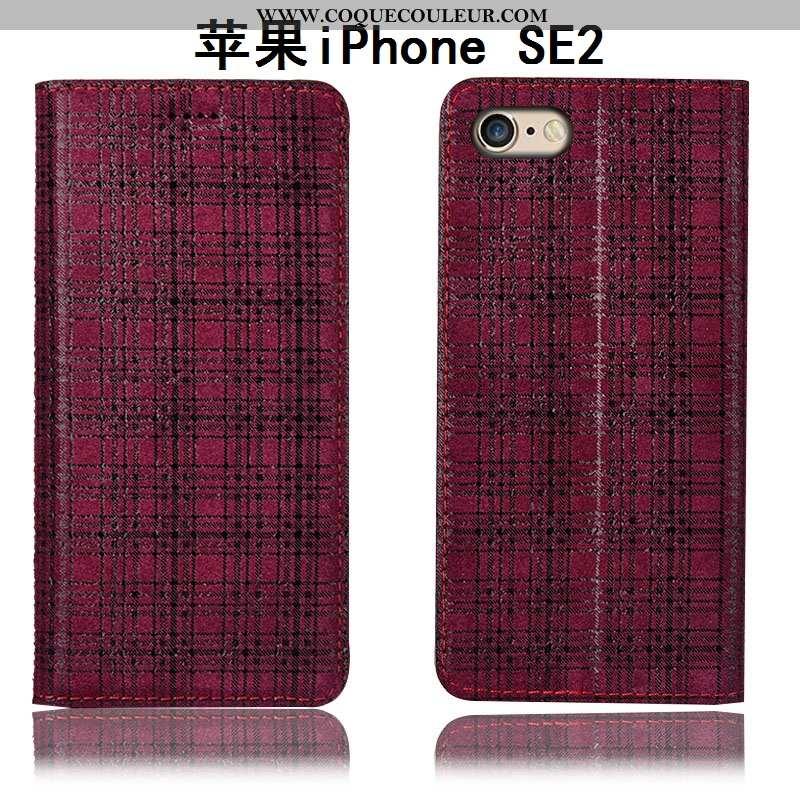 Étui iPhone Se (nouveau) Protection Téléphone Portable Étui, Coque iPhone Se (nouveau) Cuir Véritabl
