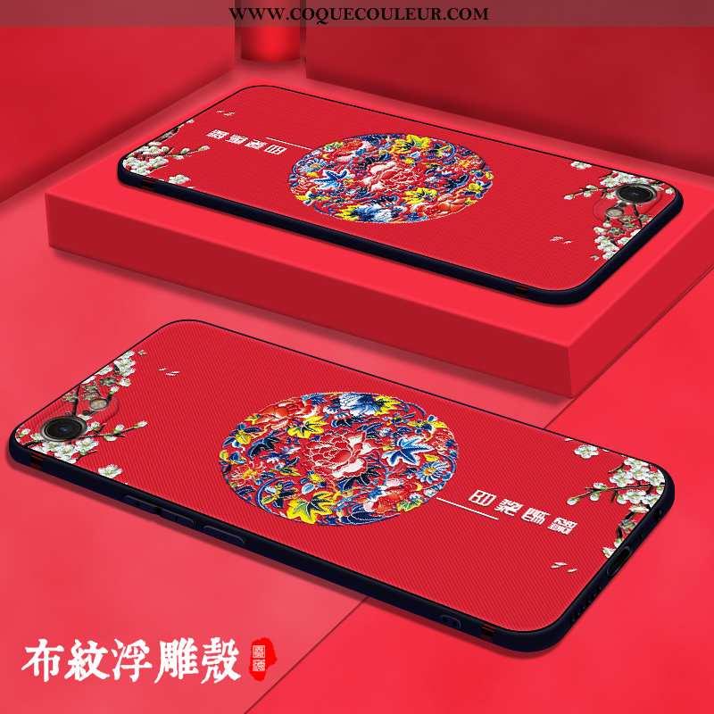 Coque iPhone Se (nouveau) Légère Mode Rouge, Housse iPhone Se (nouveau) Fluide Doux Tout Compris Rou