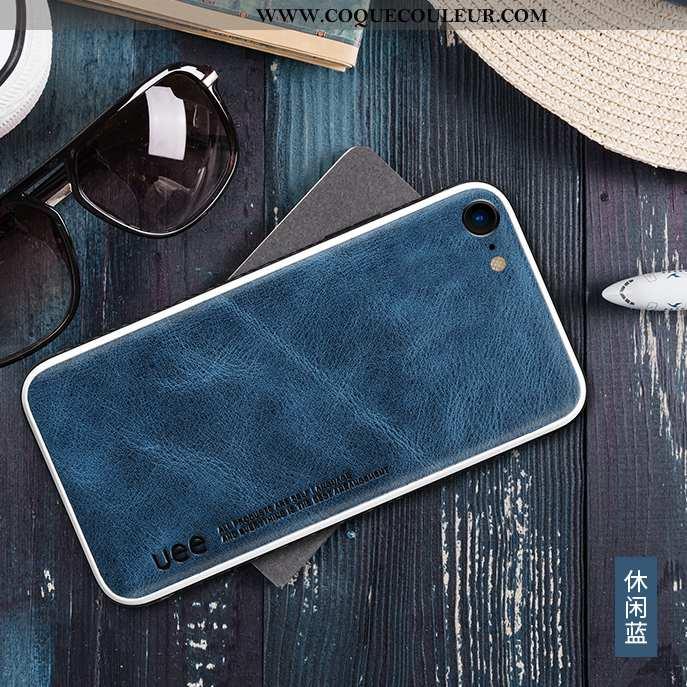 Housse iPhone Se (nouveau) Protection Coque Bleu, Étui iPhone Se (nouveau) Cuir Véritable Bleu