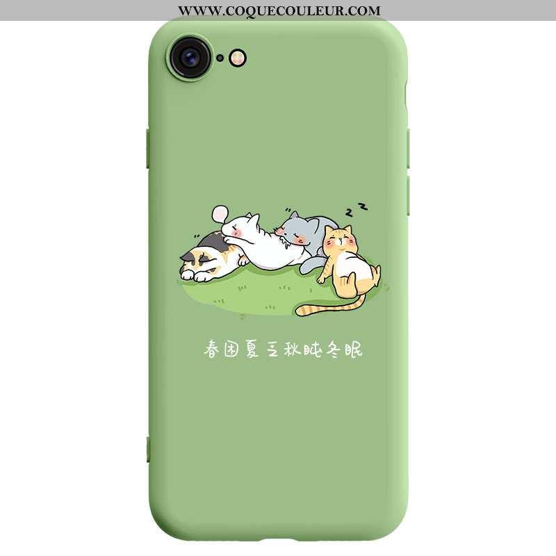 Housse iPhone Se (nouveau) Ultra Vert Coque En Silicone, Étui iPhone Se (nouveau) Légère Créatif Ver
