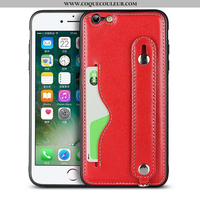 Coque iPhone Se (nouveau) Cuir Véritable Rouge Tout Compris, Housse iPhone Se (nouveau) Protection S